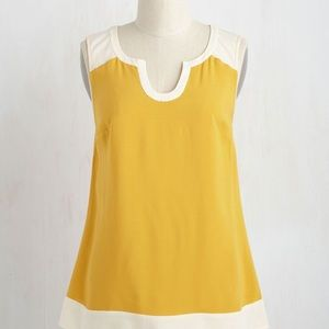 ModCloth marigold Notch So Fast top size M